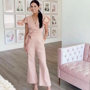 NEW Rachel Parcell Ruffle Sleeve Jumpsuit